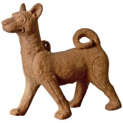 Sculpture Dog Sichuan Pottery Han Dynasty Period China