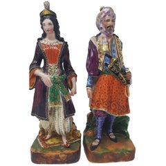 Pair of 19th Century Porcelain Ottaman Figures