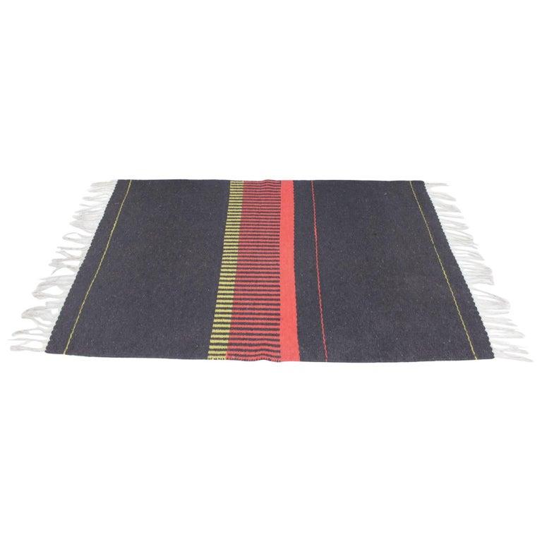 Smaller Kilim Geometric Modernist Carpet