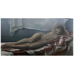 Peter Sorrell Nude Oil on Canevas