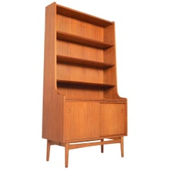 Tall Danish Modern Midcentury Bookcase in Teak by Johannes Sorth #2