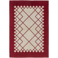 Vintage Swedish Flat-Weave Double-Sided Rug