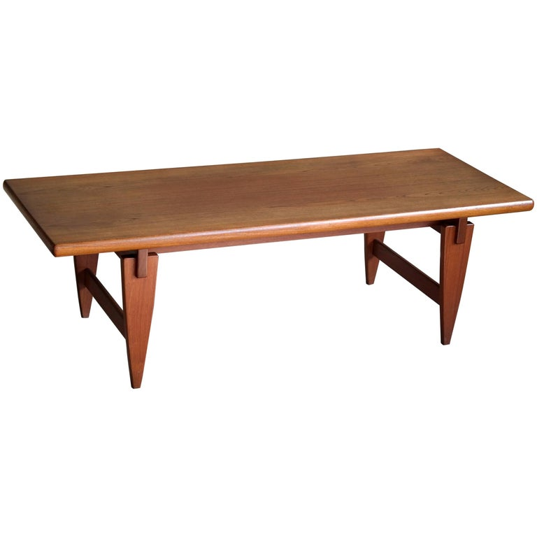 Illum wikkels danish midcentury coffee table in solid teak for sale at 1stdibs Solid teak coffee table