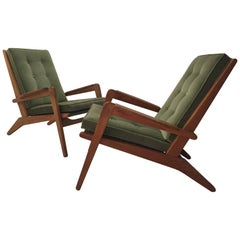 Pair of 1950s Armchairs by Pierre Guariche