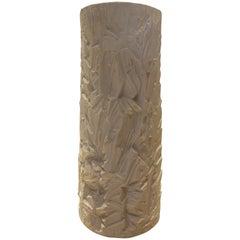 Rare and Monumental Schumann Matte White Porcelain Floor Vase