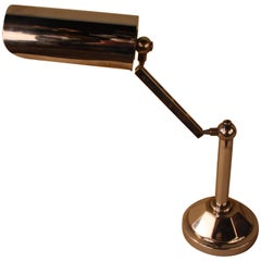 French Art Deco Adjustable Chrome Desk Lamp