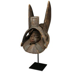 Yoruba Tribal Gelede Mask with Ears, Nigeria, Early to Mid-20th Century