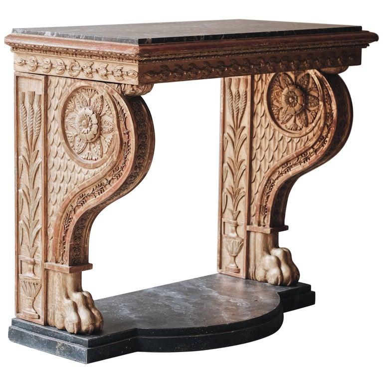19th Century Swedish Empire Console Table