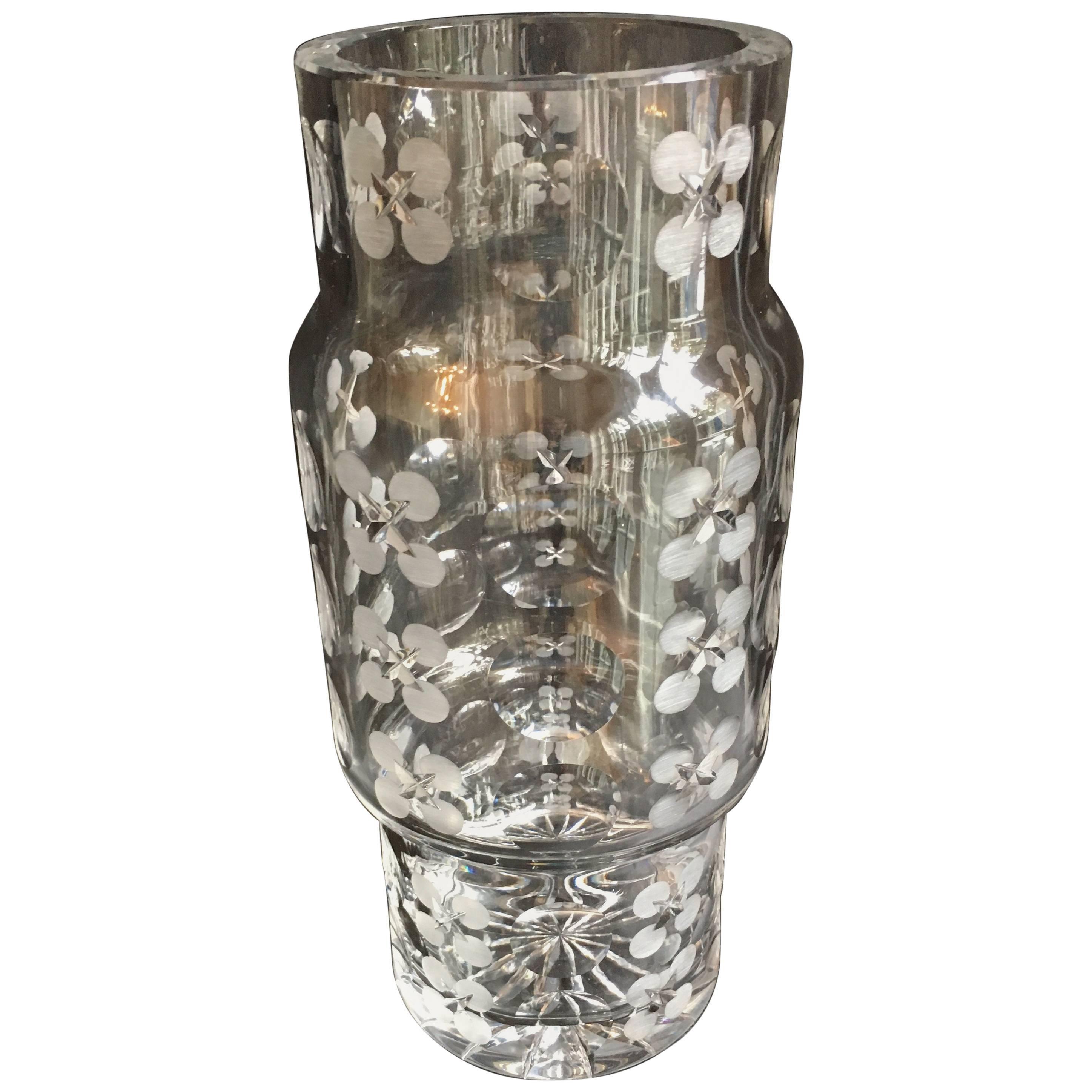 Modern Crystal Cylinder Vase