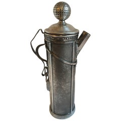 Art Deco Silver Plate Golf Bag Martini Shaker by George J. Berry