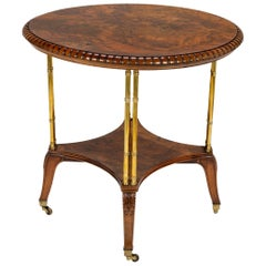 Victorian Burl Walnut Table by Holland & Sons