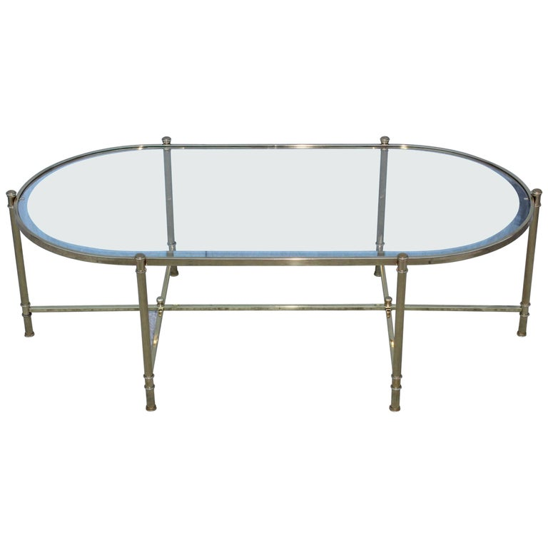 Mid-Century Modern Italian Brass Coffee Table