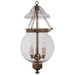 19th Century English Glass Globe Hall Lantern
