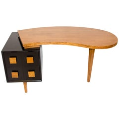 Organic Kidney Shaped Midcentury Desk, Paul Laszlo Style