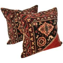Custom Pillows Cut from a Vintage Wool Dutch Mohair Textile, Netherlands