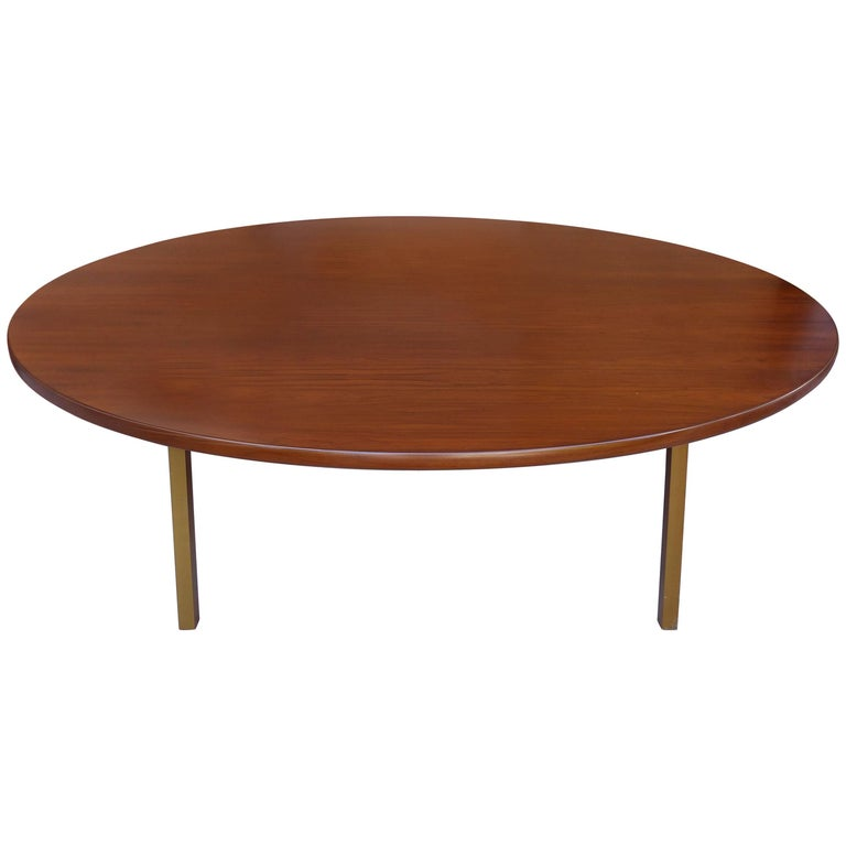 Monumental Round Midcentury Rosewood Dining Table from Dunbar