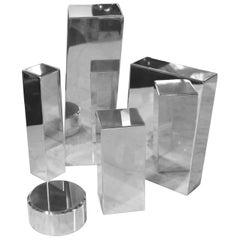 Geometric Aluminum Sculpture by California Artist Casey Cross