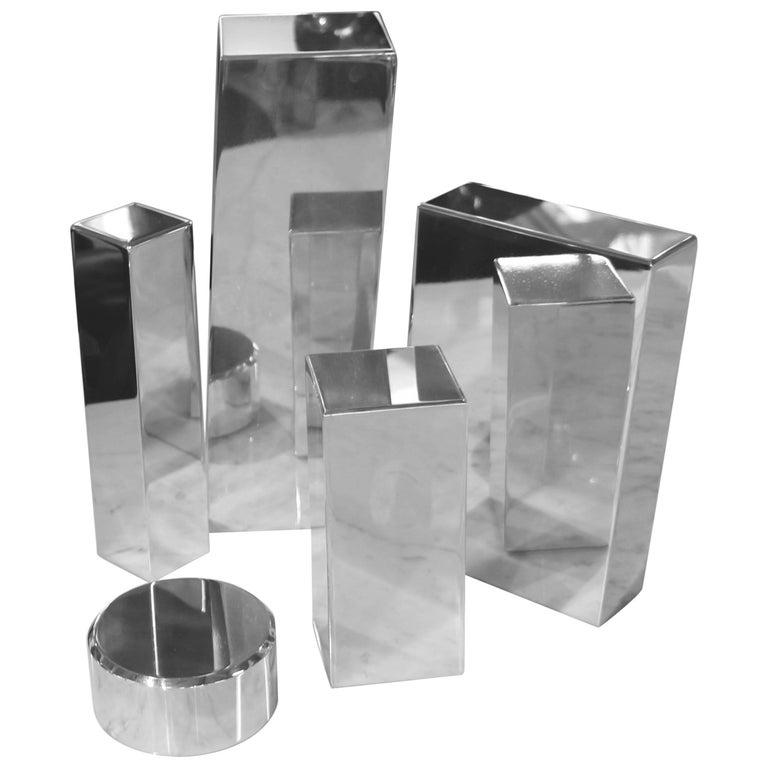 Geometric Aluminum Sculpture by California Artist Casey Cross For Sale
