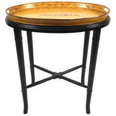 French Yellow Tole Tray Coffee Table