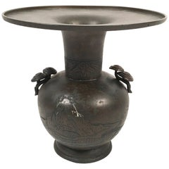 Large Japanese Meiji Period Bronze Vase