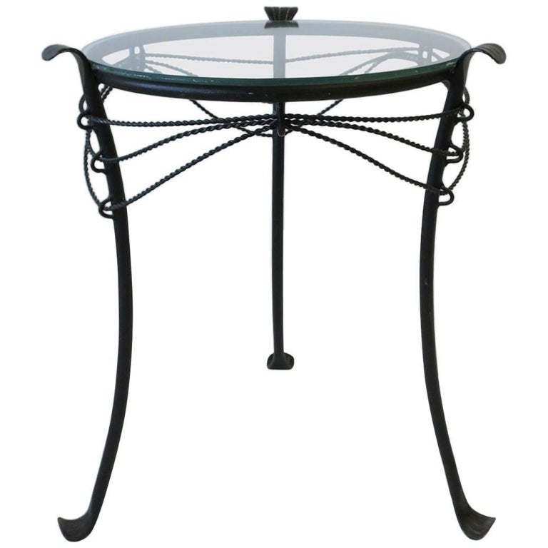 small gueridon metal round side table for sale at 1stdibs. Black Bedroom Furniture Sets. Home Design Ideas