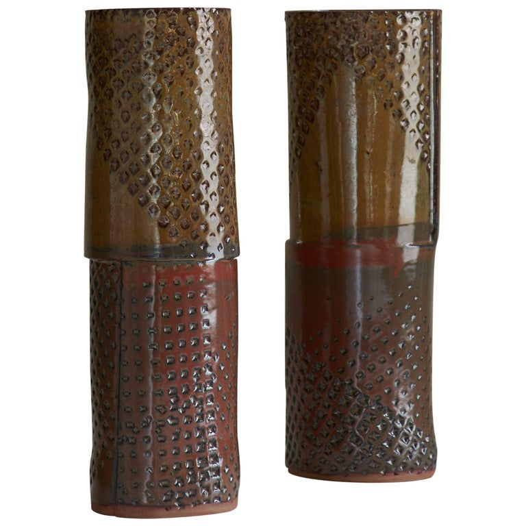 Ceramic Textured Vase by Dumais Made
