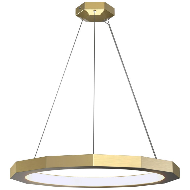 Dodeca 28 Brushed Brass Chandelier by Matthew McCormick Studio