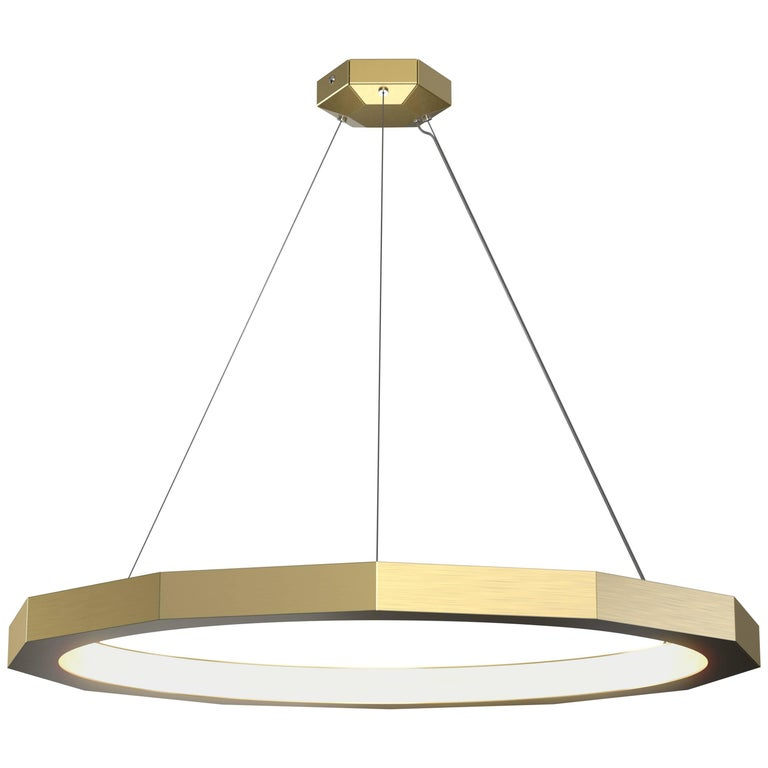 Dodeca 36 Brushed Brass Chandelier by Matthew McCormick Studio