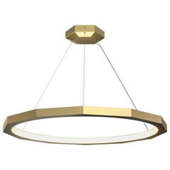 Dodeca 46 Brushed Brass Chandelier by Matthew McCormick Studio