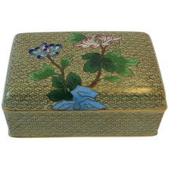 Chinese Cloisonné Enamel and Brass Jewelry Box