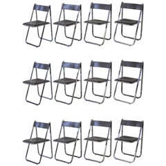 Set of Twelve Italian Tamara Folding Chairs by Arrben