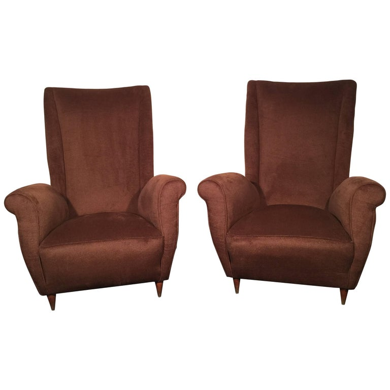 Rare Armchairs Designed by Gio Ponti in the 1950s