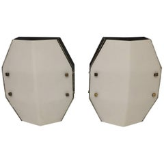 Set of Two Large Sconces by Elio Monesi for Arredoluce, circa 1950