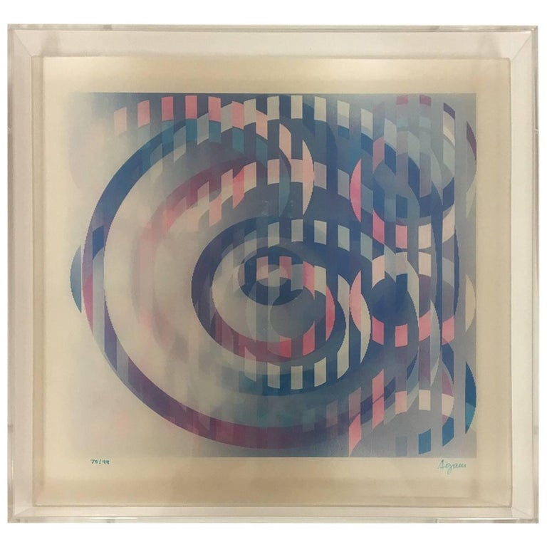 Signed and Numbered Lenticular Lightograph by Yaacov Agam