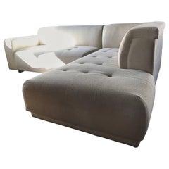 Vintage Modern Two-Piece Creme Sectional Lazar Sofa