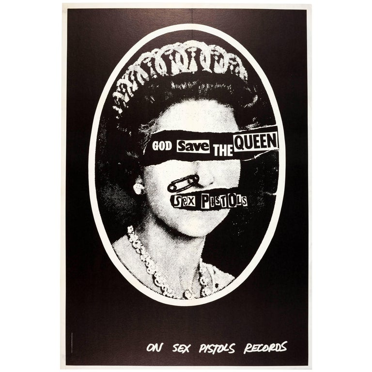 Original Iconic Punk Rock Music Poster For The Sex Pistols ...