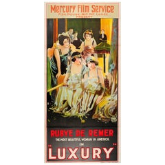 Large Original Vintage Movie Poster For The Film Luxury Starring Rubye De Remer
