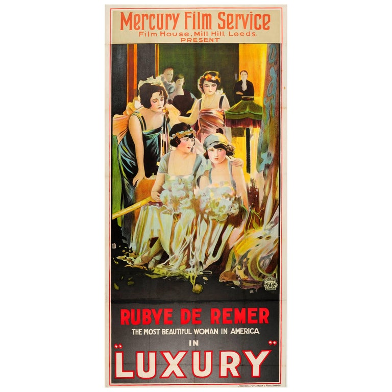 Large Original Vintage Movie Poster For The Film Luxury Starring Rubye De Remer For Sale