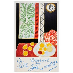 Original Vintage Travel Poster by Matisse for Nice France - Work and Happiness