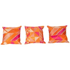 Old Phulkari Pillow Cases from India
