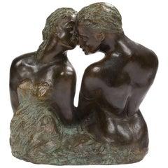 Bronze Sculpture Couple in Love