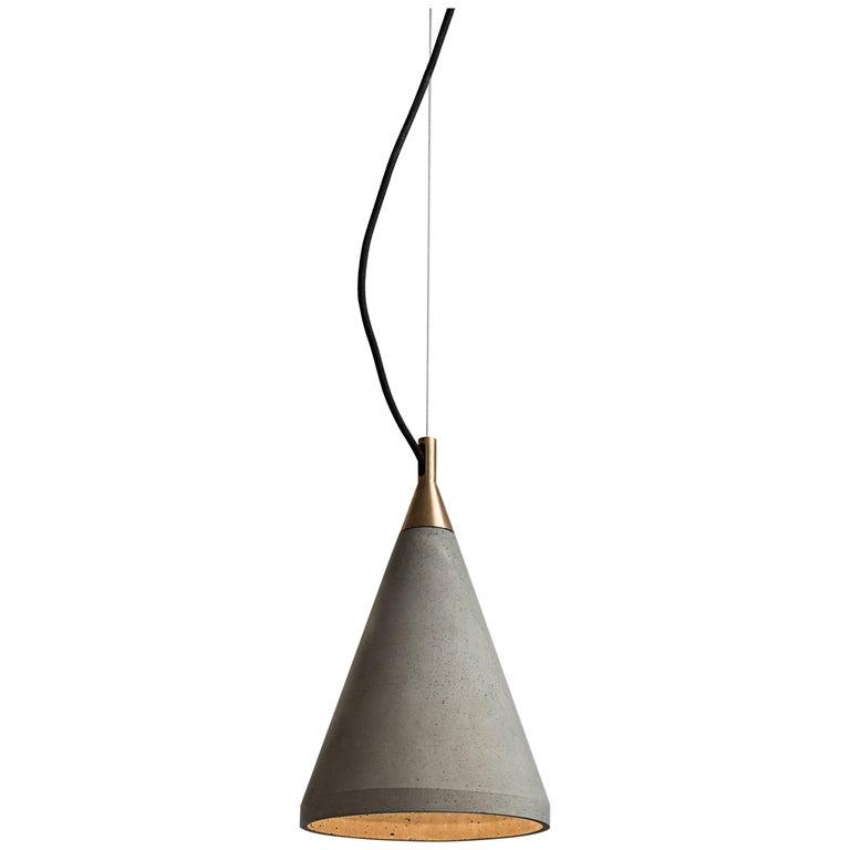 Concrete Pendant Lamp 'Ren 1' For Sale