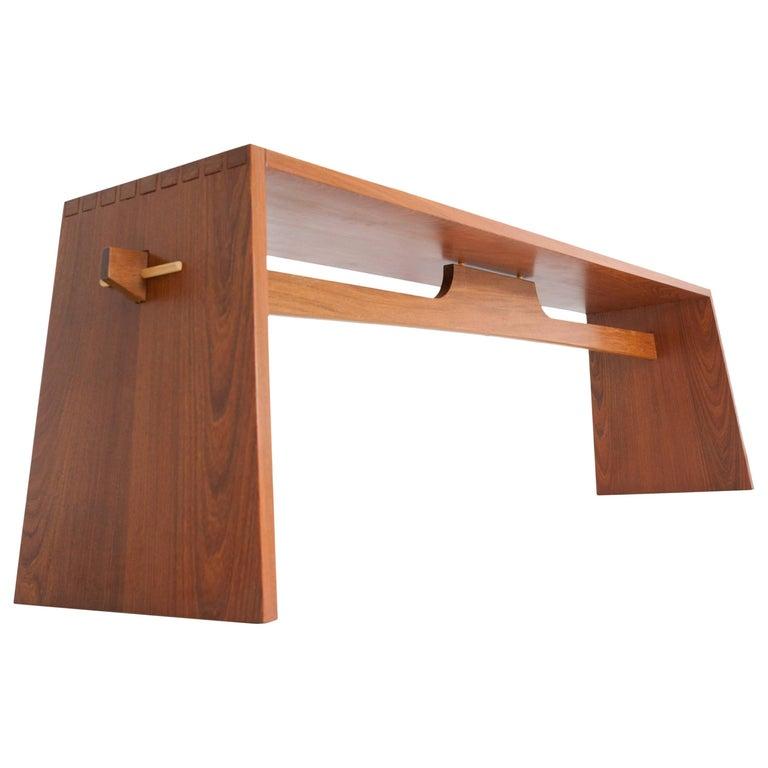 Contemporary Bench in Brazilian Hardwood by Ricardo Graham Ferreira