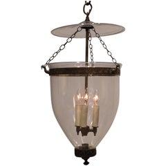 Regency Hand-Blown Clear Bell Jar Lantern, London, circa 1790