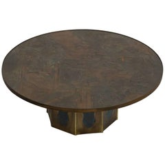Phillip and Kelvin LaVerne Round Chan Coffee Table, 1960s