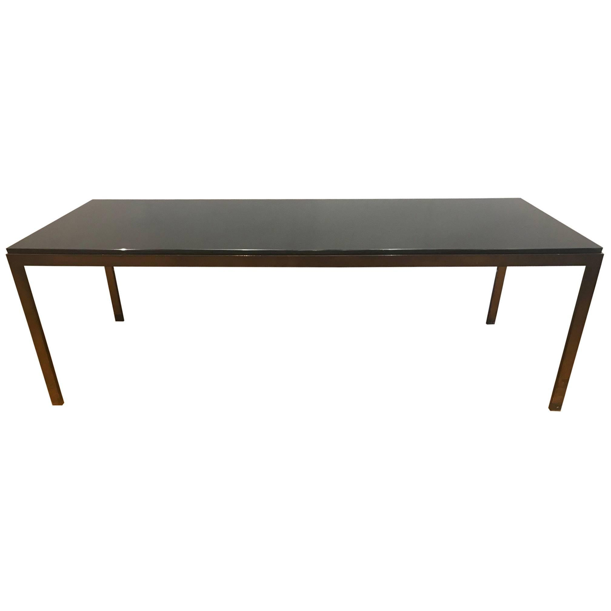 French 1950u0027s Bronze And Glass Coffee Table For Sale