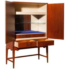 1940s, Chestnut Bar or Cocktail Cabinet by Ferdinand Lundquist