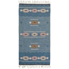 Vintage Swedish Flat-Weave Rug Signed by Ingegerd Silow