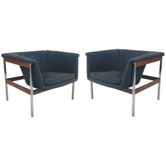 Rare Pair of 040 Rosewood Lounge Chairs by Geoffrey Harcourt for Artifort, 1964