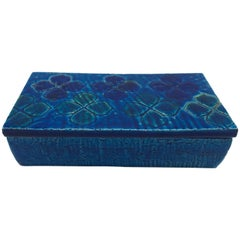 Aldo Londi Bitossi Blue Clover Motif Box, Sample #10/20